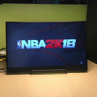 13.3 Inch HDMI DP Portable Monitor 1920 * 1080 HDR IPS Screen For Game Surpport HDCP 2.2 Display For PS4 Pro XBOX One PC