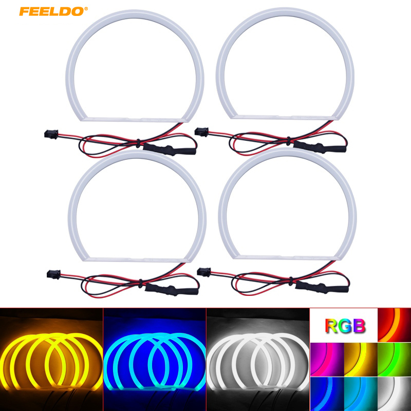 FEELDO 1Set Auto Halo Rings Cotton Lights SMD LED Angel Eyes For BMW E46 98-01 Vorfacelift Car Styling #AM3169 emporio armani солнечные очки