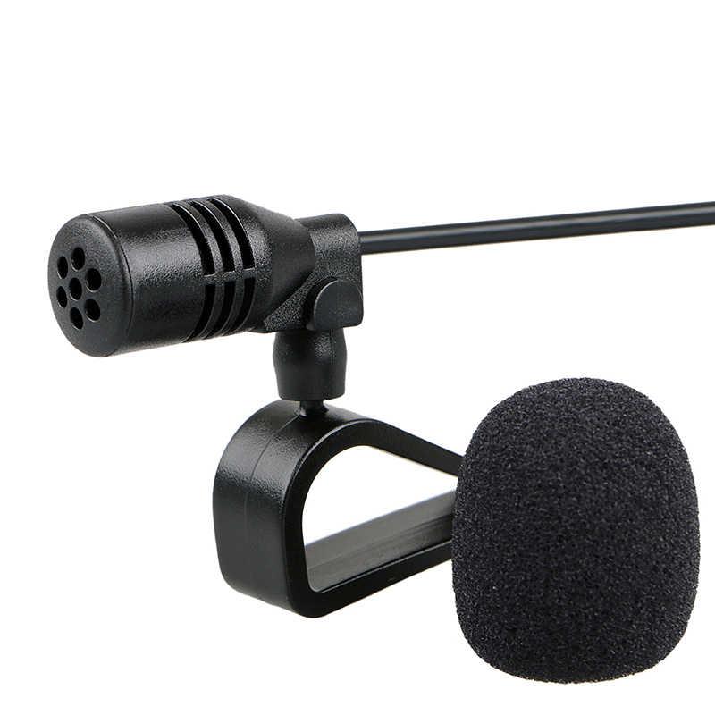 Автомобильный Аудио Микрофон 3,5 мм разъем с зажимом Микрофон Стерео мини проводной внешний микрофон для авто DVD Радио 3 М длинные профессионалы