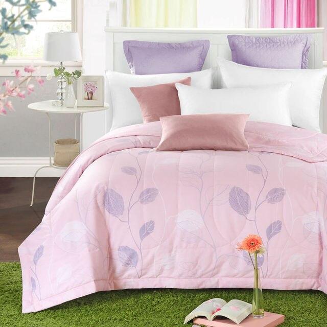 fresh light pink floral summer quilt 150*200cm 200*230cm size ... : light summer quilt - Adamdwight.com