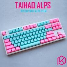 Taihao alps ميامي tomcat abs مزدوجة النار كاي كابس لتقوم بها بنفسك لوحة مفاتيح الألعاب الميكانيكية لجبال الألب مفاتيح apc ماتيس