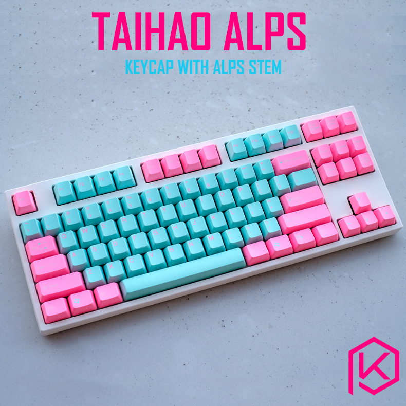 Taihao Alps Miami Tomcat Abs Double Shot Keycaps For Diy Gaming Mechanical Keyboard For Alps Switches Apc Matias Switches