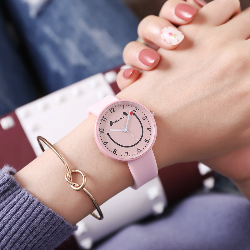 Silicone Soft Strap Women Watch For Children Life Waterproof Student Smile Kids Watches Smiley Face Girls Boys Jelly Clock Gift