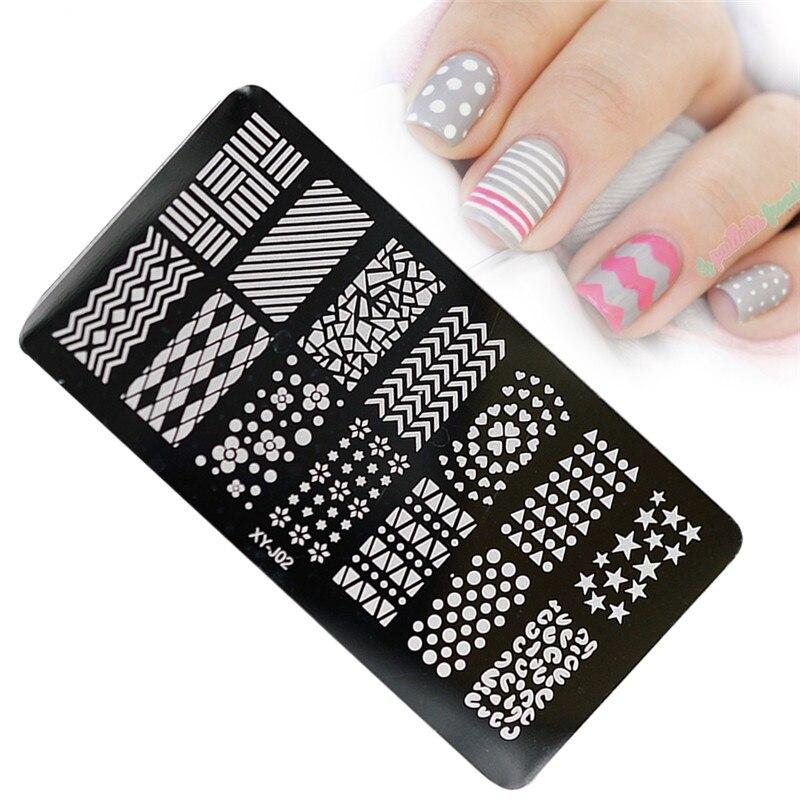 Nail Salon 1pcs Stainless Steel Template Nail Art Stamping Image ...