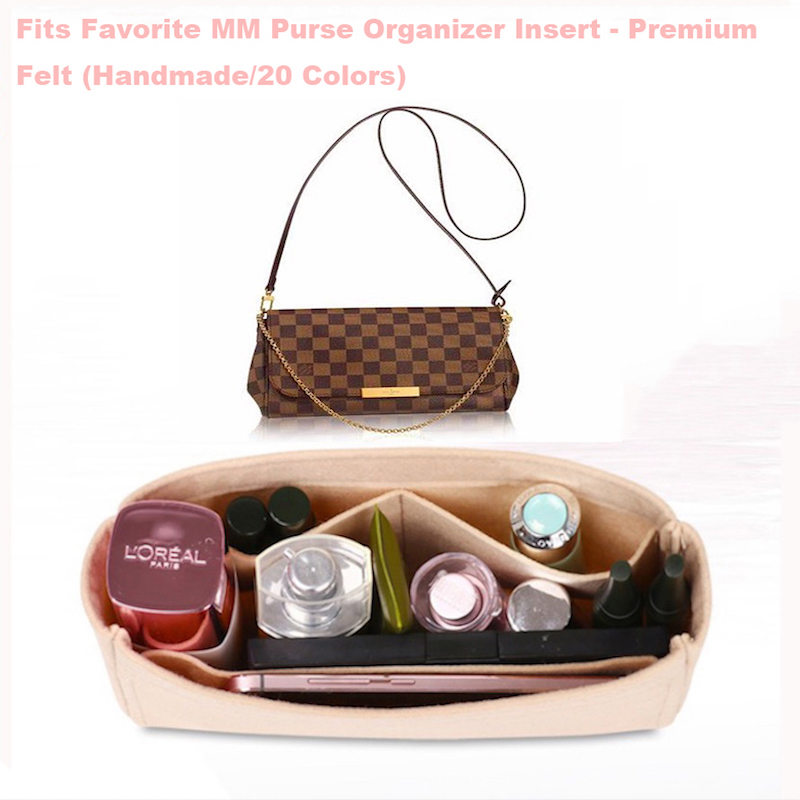 Fits Favorite MM Purse Organizer Insert - Premium Felt (Handmade/20 Colors)