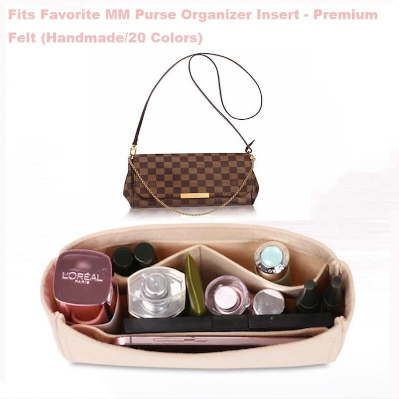 Fits Favorite MM Purse Organizer Insert - Premium Felt (Handmade/20 Colors)