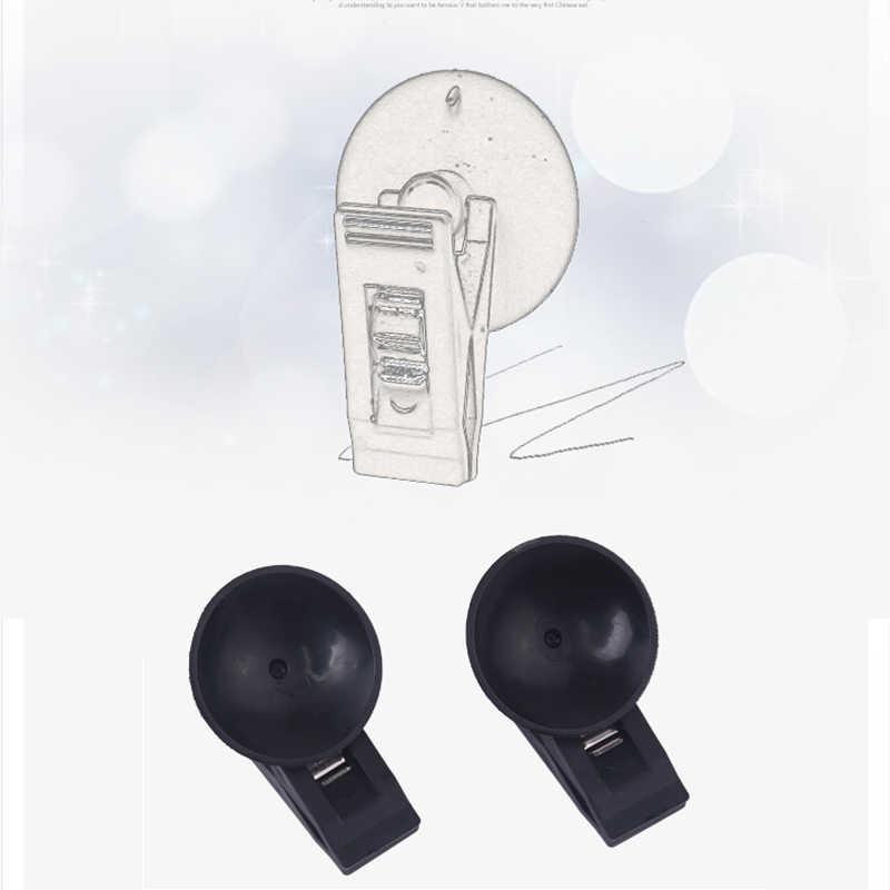 1 คู่รถภายใน Window MOUNT สีดำดูดหมวกคลิปพลาสติก Sucker ที่ถอดออกได้สำหรับบังแดดผ้าม่านผ้าเช็ดตัวตั๋ว