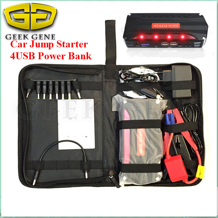 2016 Portable 4USB Power Bank Mini Function 68800mAh 12V Car Jump Starter Battery Charger Emergency Auto