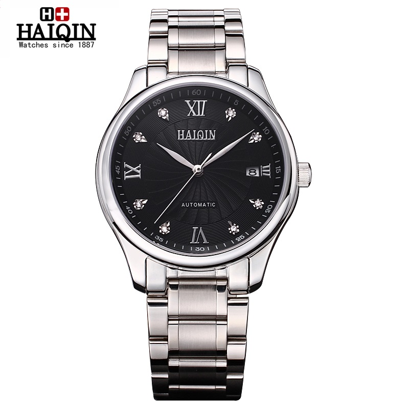 ФОТО HAIQIN mens watches top bland luxury Superior quality Automatic Self-Wind Mechanical Wristwatches waterproof 2017 New Glory