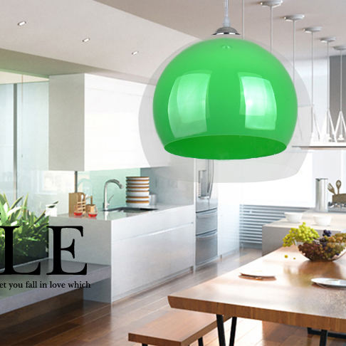 Double Acrylic cord pendant light outside transparent inside colorful hanging lamp cafe bar restaurant pendant lamps modern
