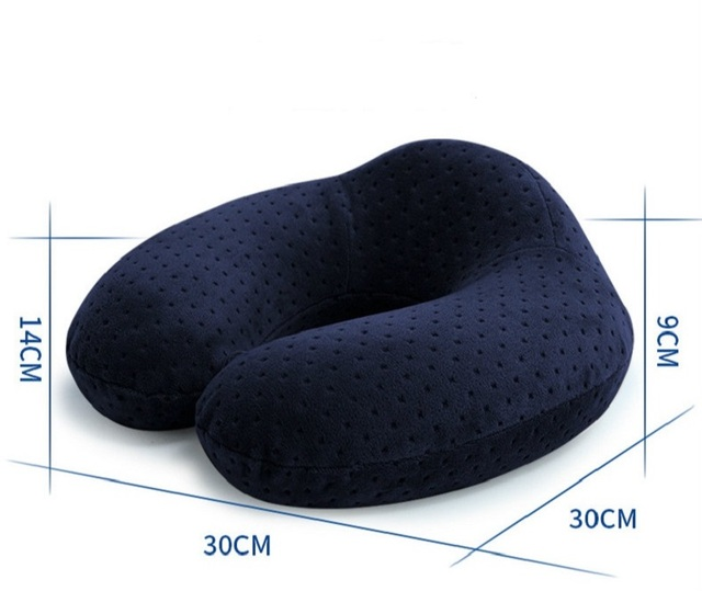 1pc U-shaped Neck Pillow Memory Foam Car travel air plane home Pillow Neck Head Support Office Cushion Comfortable Travel Pillow 8