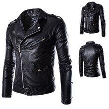 New Street Men's Leather Jacket Coat British Fashion Men's Leather Garment