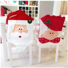 2015 New Style Mr&Mrs Santa Claus Chair Covers Indoor Christmas Xmas New Year Decorations Home Ornament Kitchen Decor 2pcs