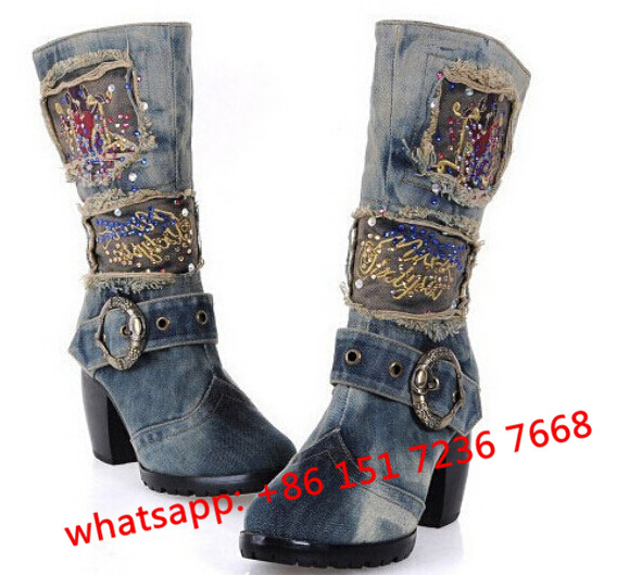 Popular Blue Jeans Boots-Buy Cheap Blue Jeans Boots lots from ...