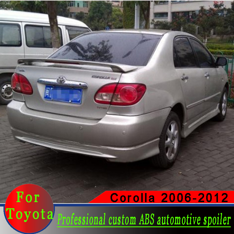 High quality ABS material For <font><b>Toyota</b></font> <font><b>Corolla</b></font> 2006-2012 rear wing <font><b>spoiler</b></font> primer or white or black ABS <font><b>Corolla</b></font> <font><b>spoiler</b></font> image