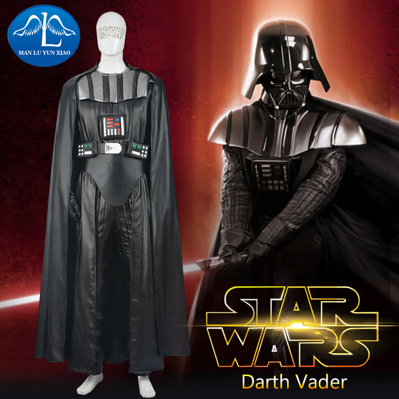MANLUYUNXIAO Star Wars Cosplay Costume Darth Vader Costume Adult Mens Rompers Darth Vader Cosplay For Men Custom Made