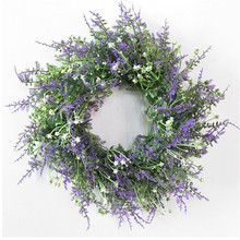 one Artificial Albizia Flower Hoop Simulation Green Plant Greenery purple Plastic floral Hoops