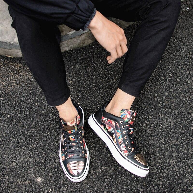 La En De Occasionnels Noir Cuir Augmenter Léger Confortable Luxe Chaussures Mycolen Respirant Hommes Véritable Marque Des Hauteur wSICIRq