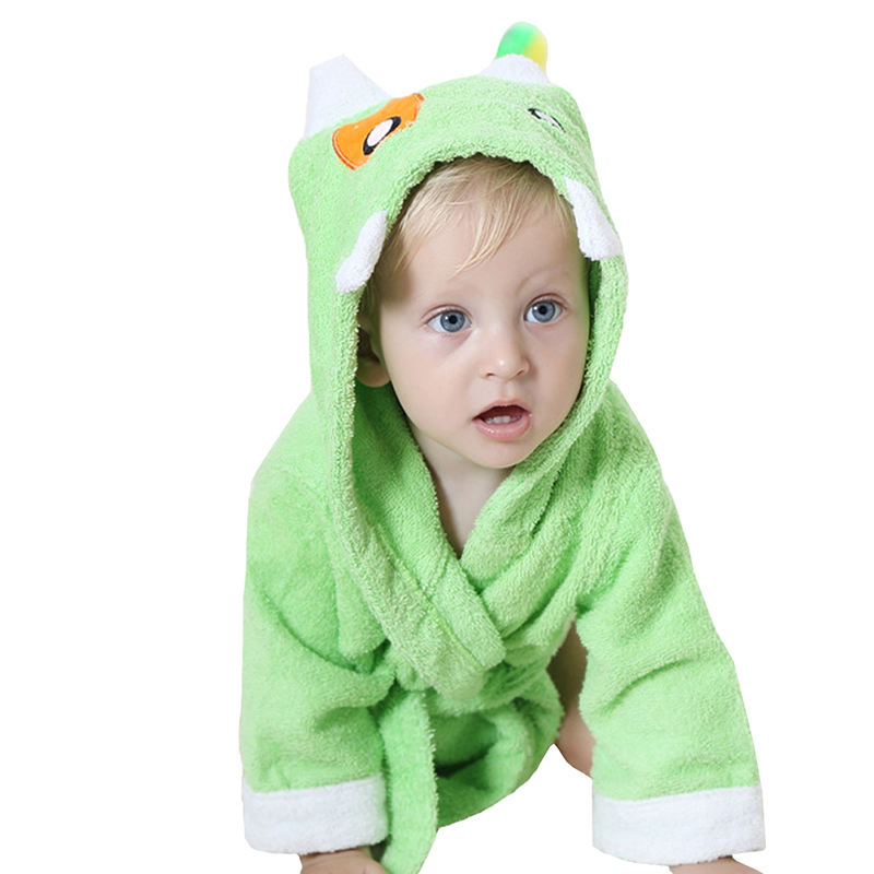 Comfortable Baby Bathrobe Cute Animal Cartoon Babies Blanket Kids Hooded Bathrobe Toddler Baby Bath Towel