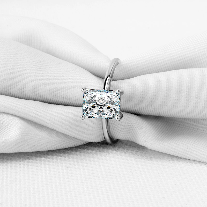 Colorfish Solitaire 925 Silver Engagement Ring Luxury 1 5 Carat Rectangle Baguette Cut Wedding Band Rings For Women Jewelry Gift In From