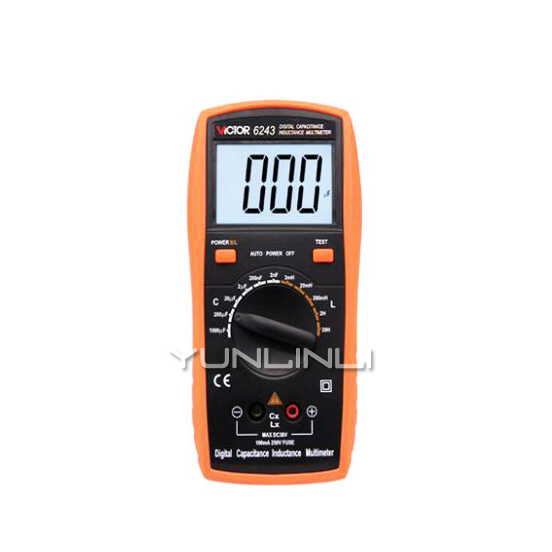 Capacitance Meter Handheld High-precision Digital With Backlight Digital Display Inductance Meter Test Instrument VC6013 lc200a high precision inductance capacitance meter l c meter