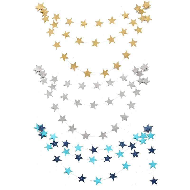 nuevo hogar m colorful wedding party banner bunting colgando estrella de papel guirnaldas cumpleaos ducha