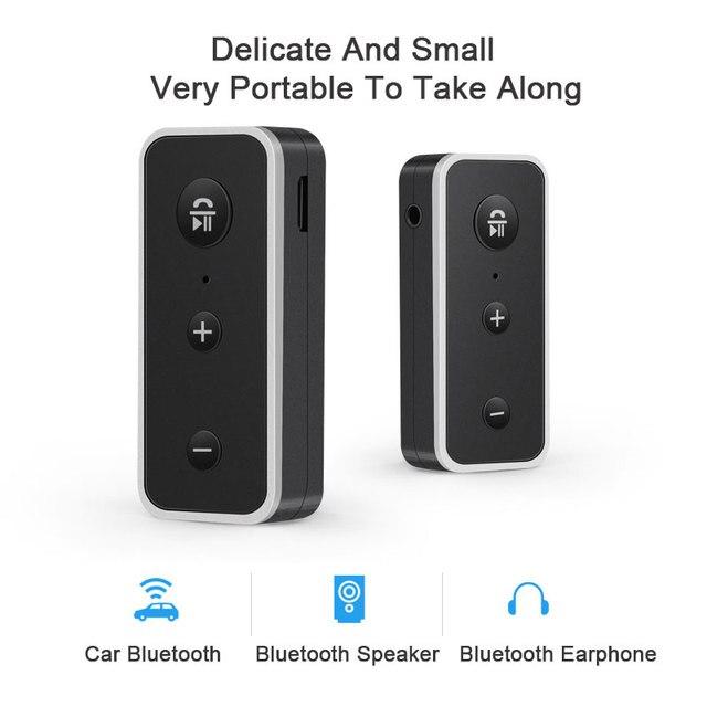 Estéreo 3,5 Blutooth inalámbrico para la música del coche Audio Bluetooth receptor adaptador Aux 3,5mm A2dp para auriculares Reciever Jack manos libres