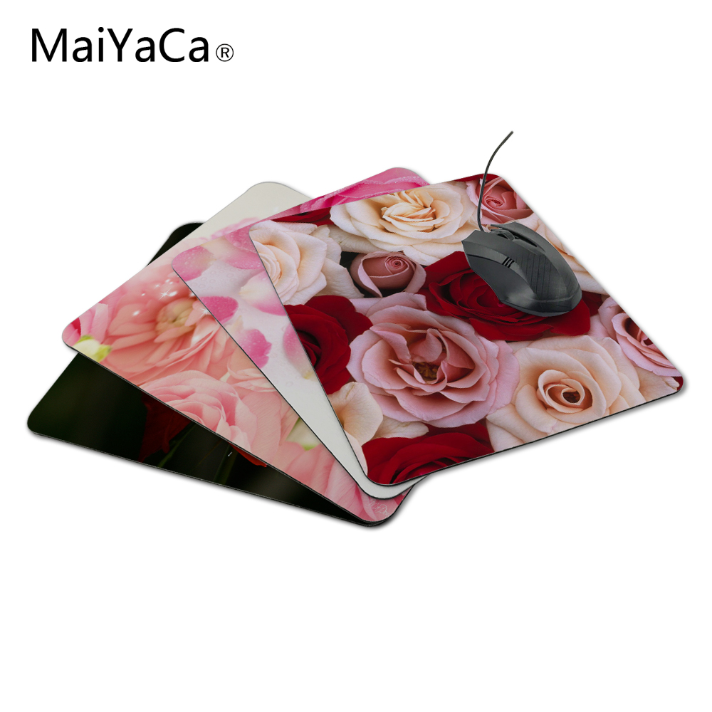 MaiYaCa ריחני וראייטי מגוון צבעים אדום קרם צבע ורדים התאמה אישית של עכבר Pad Mat מקלדת Pad לא נעול MousePad