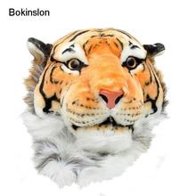 Bokinslon женщина индивидуальность нейлоновая сумка Популярные животных головы тигра Повседневное Обувь для девочек рюкзак Для женщин Творческий рюкзак