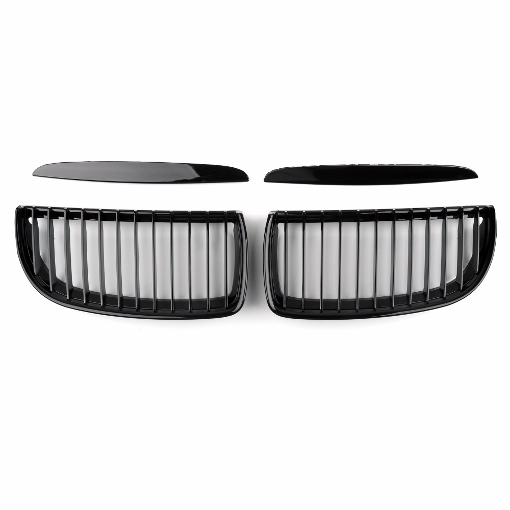 Areyourshop Car Kidney Grill Mesh Grille Fit For BMW E90 3 Series Sedan 2005-2008 High Quality Car-Styling Cover Grill