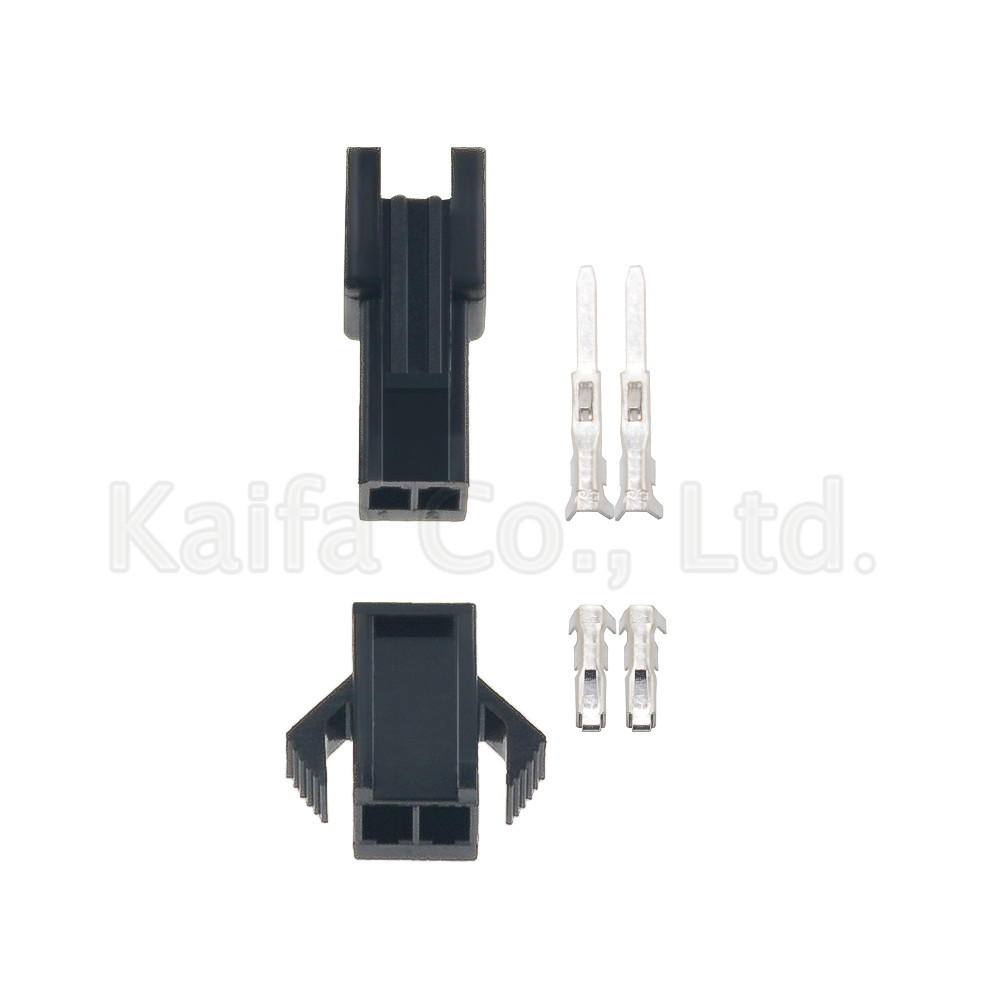 (100sets/lot)(connectors|SM) SM 2Pin Pitch <font><b>2.54MM</b></font> <font><b>Female</b></font> and Male Housing + terminals SM-2P SM-2R JST <font><b>2.54MM</b></font> SM2.54 image