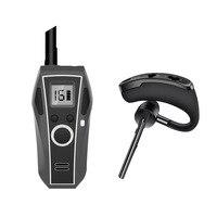 1pcs Bluetooth earphone walkie talkie xiao mi headphone wireless intercom handset headphones walkie talkies woki toki mini radio