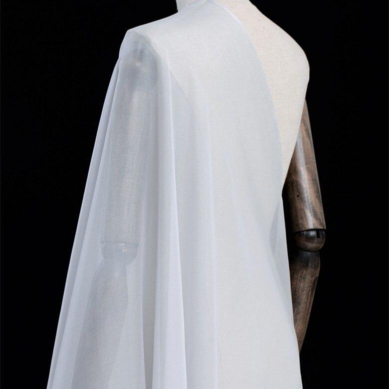 Tissu en mousseline de soie couleur 100% mûrier soie pour robe linning 6mm 140 cm bleu clair vert violet couleur 10 mètres SC 02-in Tissu from Maison & Animalerie    1