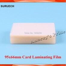 Бесплатно CP 50mic(2mil) 100 шт 95x66 мм ПВХ прозрачный глянцевый 2 створки ламинирующая пленка имя карты защиты для горячего ламинатора