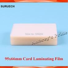Livre cp 50mic(2mil) película protetora para laminador de filme, película brilhante transparente de pvc de 95x66mm com 100 peças