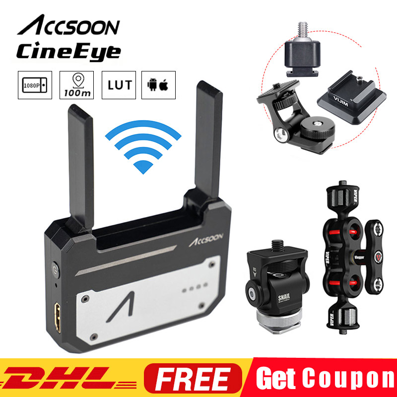 Instock Original Accsoon CineEye HDMI Transmission FullHD via Wifi to up to 4 Smart Devices For