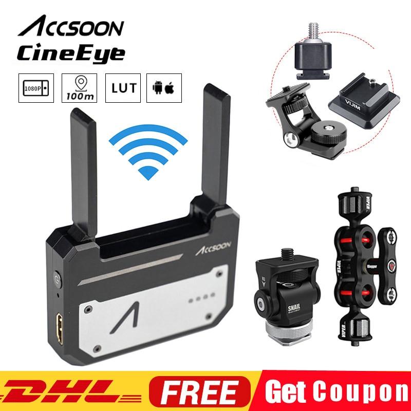 Instock Original Accsoon CineEye HDMI transmisión FullHD a través de Wifi hasta 4 dispositivos inteligentes para A1 S A1 Pro Gimbal estabilizador-in Accesorios de estabilizadores de imagen from Productos electrónicos    1