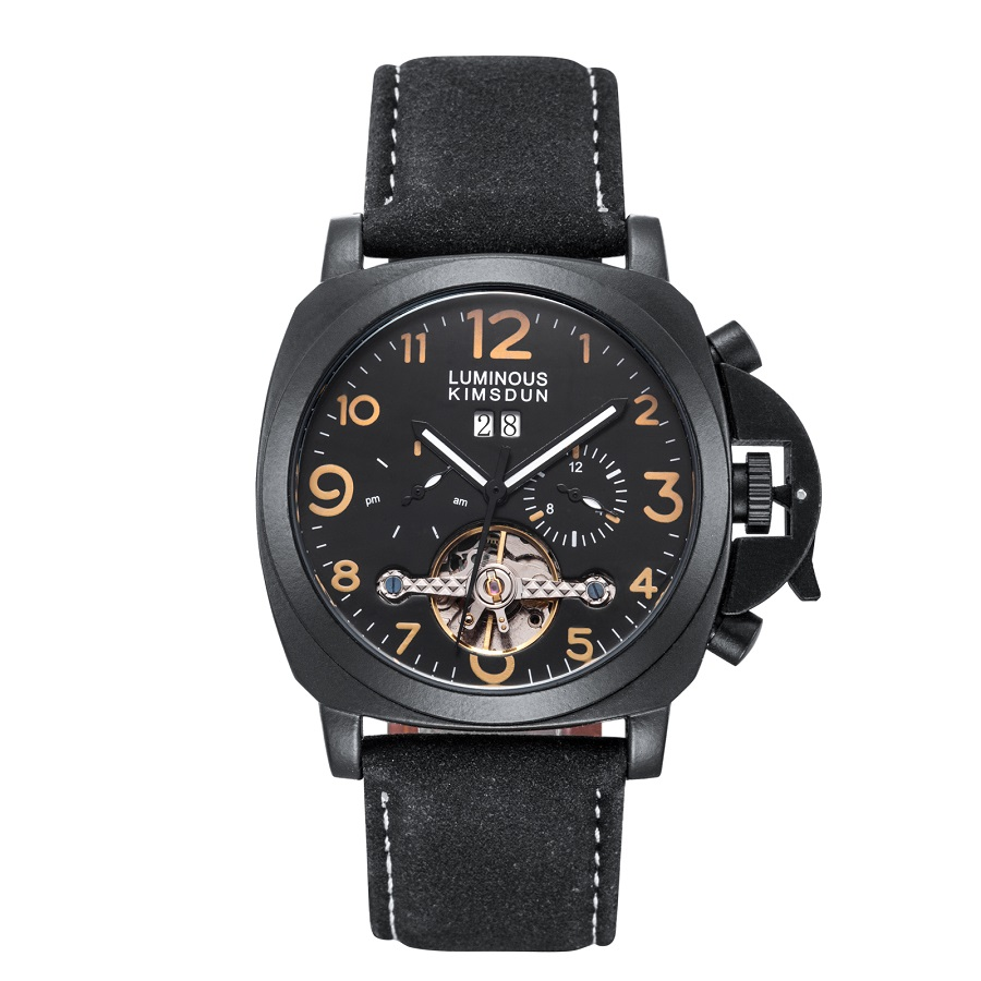 Relogio Masculino Mechanical Watches For Men Waterproof Skeleton Automatic Watch Black Clock erkek kol saati reloj hombre 2019Relogio Masculino Mechanical Watches For Men Waterproof Skeleton Automatic Watch Black Clock erkek kol saati reloj hombre 2019