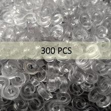 300 stücke Transparent kunststoff S clips solide Webstuhl Gummibänder für DIY armband bunte verschlüsse Armband Machen Kinder schmuck