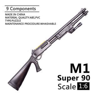 Image 1 - 1:6 1/6 בקנה מידה 12 inch אבזר בנלי M1 סופר 90 חייל חלקי דגם רובים להשתמש עבור 1/100 MG bandai Gundam מתנה
