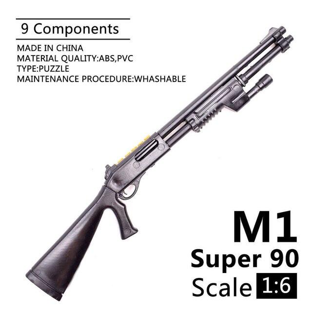 1:6 1/6 בקנה מידה 12 inch אבזר בנלי M1 סופר 90 חייל חלקי דגם רובים להשתמש עבור 1/100 MG bandai Gundam מתנה