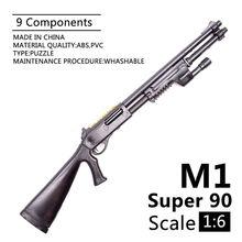 Figura de acción de 12 pulgadas a escala 1:6, accesorio Benelli M1 Super 90, piezas de soldado, modelo de armas utilizado para regalo de 1/6 MG Bandai Gundam