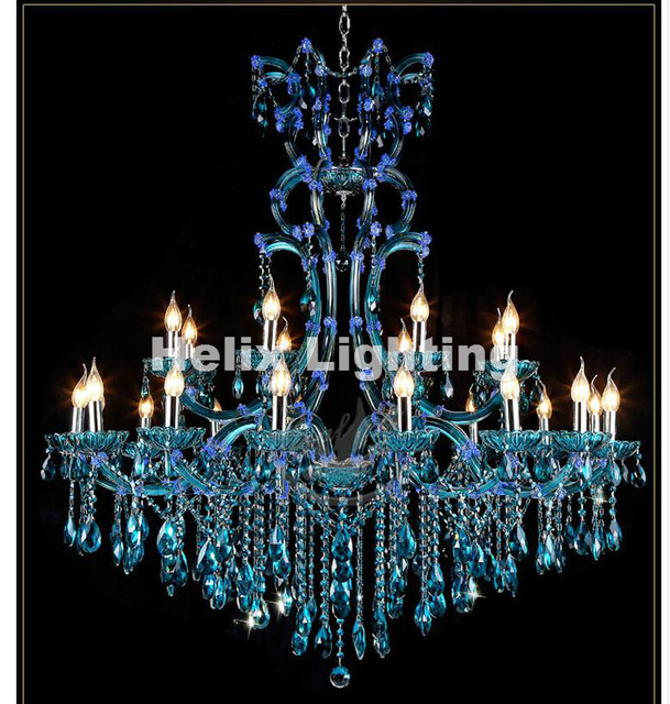 Aliexpress.com : Buy Free Shipping Modern Blue Chandeliers Crystal ...
