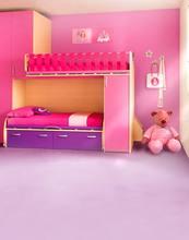 Розовый фон для фотосъемки в спальню с мультяшными животными
