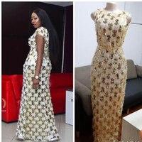 African women's party dress sleeveless high elastic sequins fur long dress with belt fashion elegant noble temperament summer|Dresses|   -
