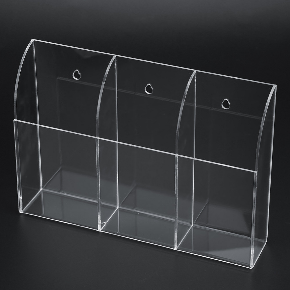 Remote Control Storage Box Key Pen Glasses Organizer Desktop Clear Transparent Stand Holder Cosmetic Makeup Container