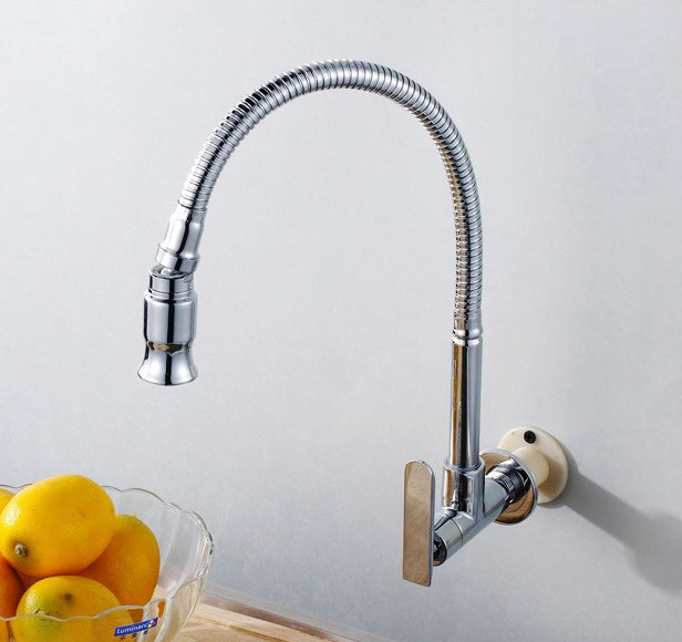 brand new single cold wall mounted kitchen faucet