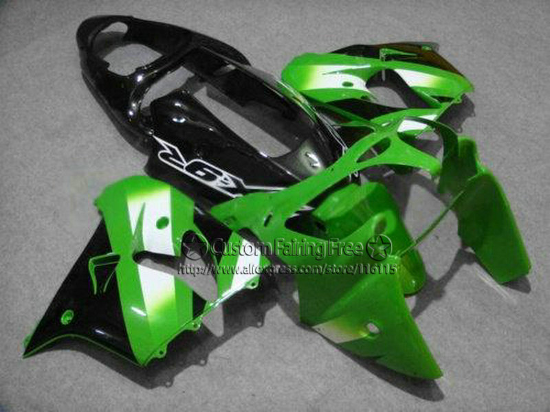 High quality motorcycle green body parts for Kawasaki fairing kits ZX9R 2000 2001 ZX 9R 00 01 Ninja customize bodykit+7Gifts compression mold bodykit for kawasaki fairing kits zx9r 2000 2001 zx 9r 00 01 ninja customize green purple body parts 7gifts