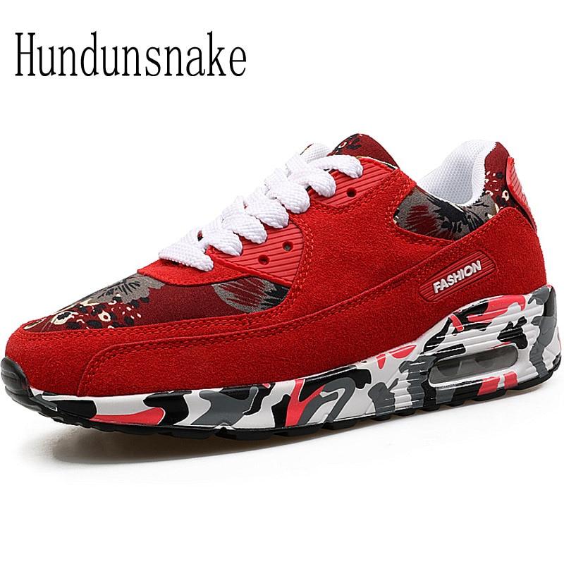 Hundunsnake Red Sneakers Women 2017 Basket Femme Running Shoes For Men Krasovki Ladies Sport Shoe Male Adult Female Gumshoe T448