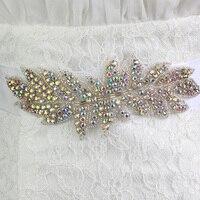 Handmade di Cristallo Variopinto Diamanti Cinture di Nozze Nastro Lungo Sash per la Sposa Strass Sposa Damigella D'onore Vestito Cintura Telai